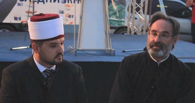 Imam Orphan Ramadani, svestenik Toni Petrusevski